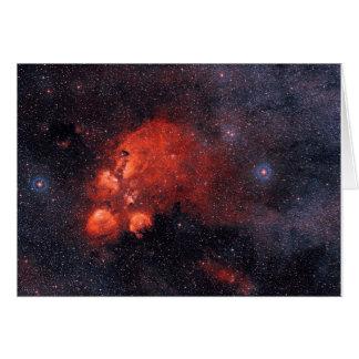 Nébuleuse NGC 6334 de la patte du chat Carte De Vœux