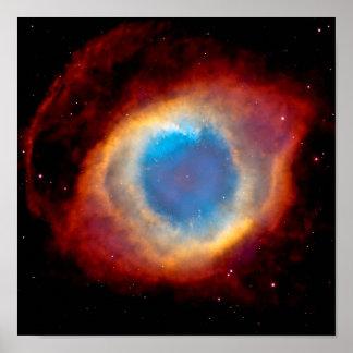 Nébuleuse planétaire NGC 7293 d'hélice - oeil de Poster