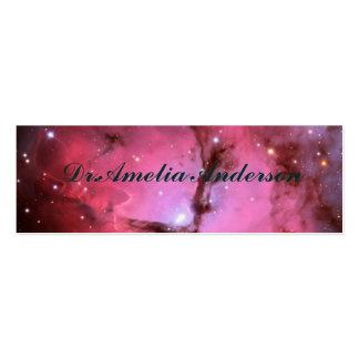 Nébuleuse rose, univers, couleurs de photo, la modèles de cartes de visite
