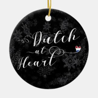 Néerlandais au coeur, ornement d'arbre de Noël
