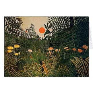 Nègre de Henri Rousseau- attaqué par Jaguar Cartes