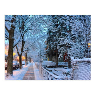 Neige à Montréal Cartes Postales