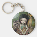 """Neige blanche et ses amis animaux"" Keychain Porte-clef"