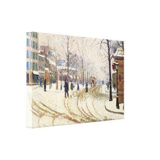 Neige, Boulevard de Clichy, Paris par Paul Signac Toiles