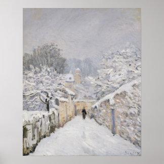Neige chez Louveciennes, 1878 Posters
