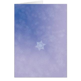 Neige de dérive carte de vœux