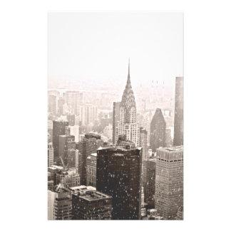 Neige de New York Papier À Lettre Customisé