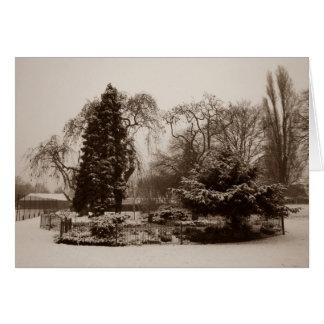 neige de Noël dans la carte de note pittoresque de