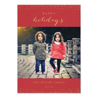 Neige de vacances carton d'invitation  12,7 cm x 17,78 cm