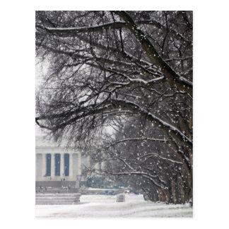 neige d'hiver du Lincoln Memorial Carte Postale