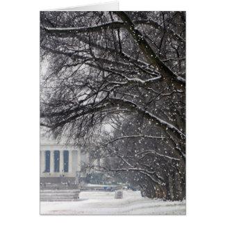 neige d'hiver du Lincoln Memorial Cartes