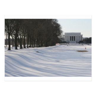 neige du Lincoln Memorial Carte Postale