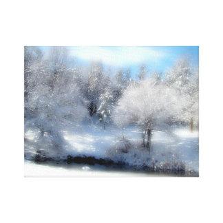 Neige surréaliste toiles tendues sur châssis