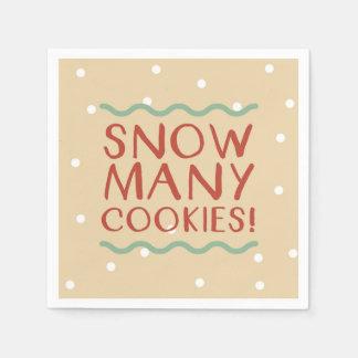 Neigent beaucoup de serviettes de biscuits serviettes jetables