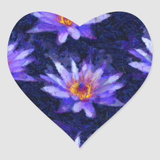 Nénuphar moderne sticker cœur