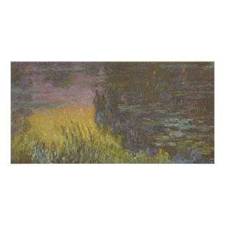 Nénuphars, coucher de soleil par Claude Monet Photocarte