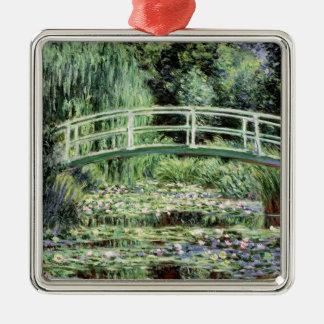 Nénuphars de blanc de Claude Monet |, 1899 Ornement Carré Argenté