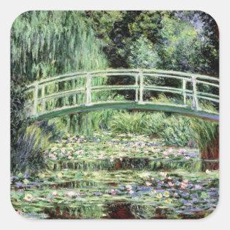 Nénuphars de blanc de Claude Monet  , 1899 Sticker Carré