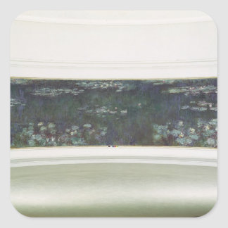 Nénuphars de Claude Monet  , 1915-26 Sticker Carré