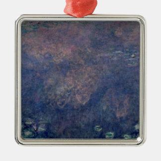 Nénuphars de Claude Monet | : Centre de saules Ornement Carré Argenté