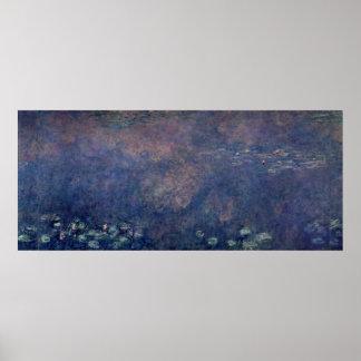 Nénuphars de Claude Monet   : Centre de saules Posters