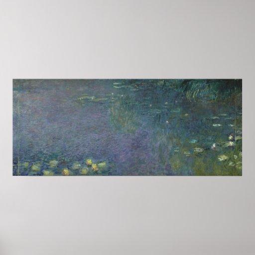 Nénuphars de Claude Monet | : Matin, 1914-18 Affiche