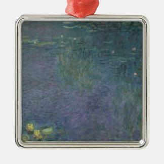 Nénuphars de Claude Monet | : Matin, 1914-18 Ornement Carré Argenté