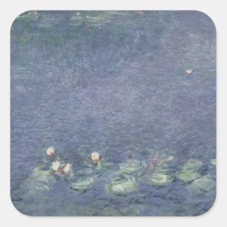 Nénuphars de Claude Monet | : Matin, 1914-18 Sticker Carré