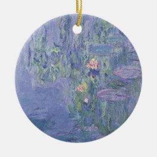 Nénuphars de Claude Monet | Ornement Rond En Céramique