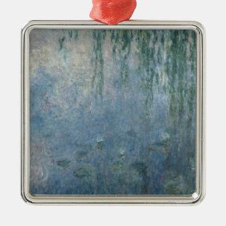 Nénuphars de Claude Monet | : Saule pleurant de Ornement Carré Argenté