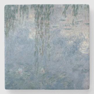 Nénuphars de Claude Monet | : Saules pleurants, Dessous-de-verre En Pierre