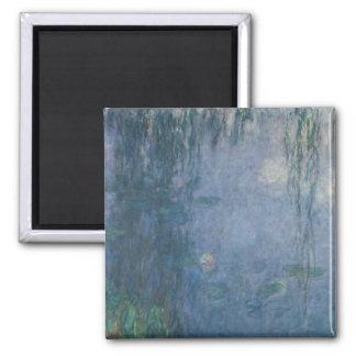 Nénuphars de Claude Monet | : Saules pleurants, Magnet Carré