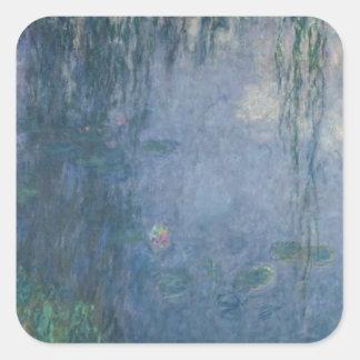 Nénuphars de Claude Monet | : Saules pleurants, Sticker Carré