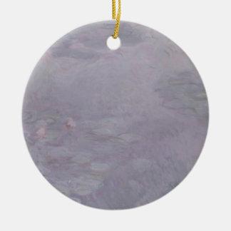 Nénuphars de couleur claire de Claude Monet | Ornement Rond En Céramique