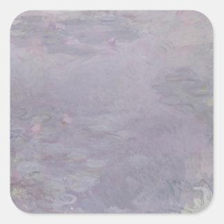 Nénuphars de couleur claire de Claude Monet   Sticker Carré