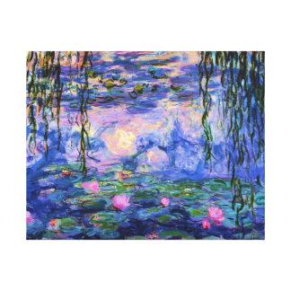 Nénuphars de Monet avec des réflexions d'étang Toiles