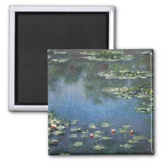 Nénuphars Monet fleurs vintages d impressionisme Aimant Pour Réfrigérateur