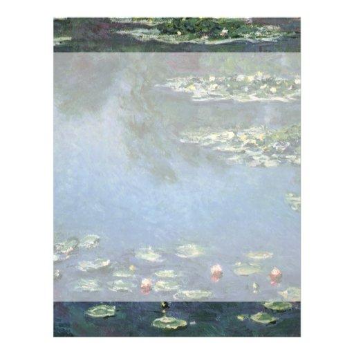 Nénuphars, Monet, fleurs vintages d'impressionisme Tract