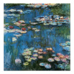 Nénuphars par Claude Monet, impressionisme vintage Posters