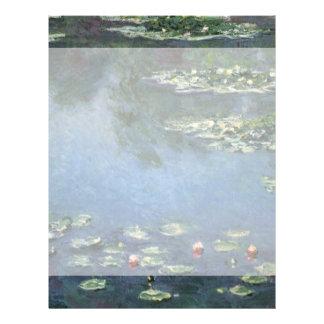 Nénuphars par l'impressionisme floral vintage de prospectus 21,6 cm x 24,94 cm