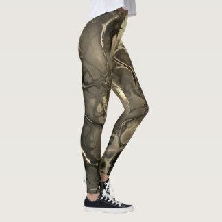 Néon #1 abstrait dans la sépia leggings