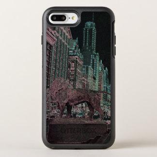 NÉON DU MUSÉE D'ART 1967 D'AVENUE DE CHICAGO COQUE OTTERBOX SYMMETRY POUR iPhone 7 PLUS