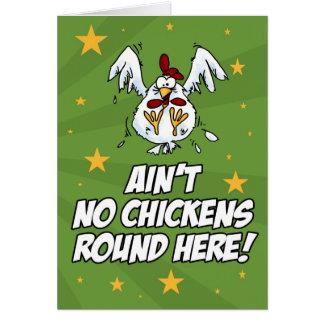 N'est aucun poulet rond ici carte de vœux