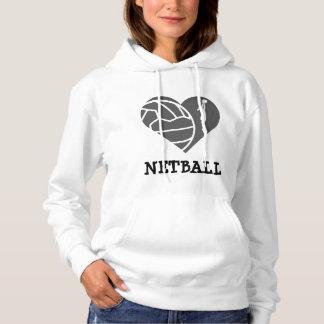 Net-ball fait sur commande d'amour de thème de pull à capuche