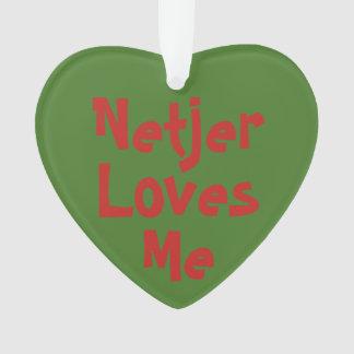 Netjer m'aime l'ornement de 2-Ton (acrylique)