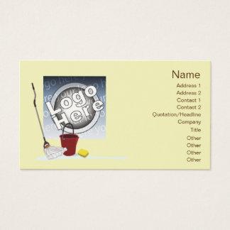 Nettoyage - affaires cartes de visite