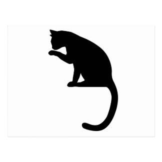 Nettoyage de chat carte postale