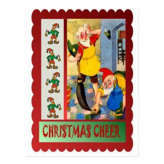 Nettoyage de Noël Carte Postale