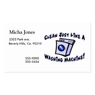 Nettoyez juste comme une machine à laver carte de visite standard