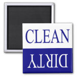 Nettoyez l'aimant sale-bleu de lave-vaisselle